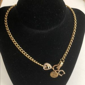 Necklace Gold Toned Juicy Couture Love Lady Luck